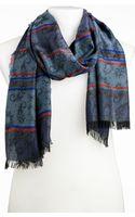 Etro Jacquard Paisley Stripe Scarf - Lyst