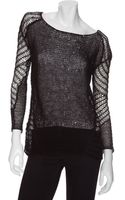 Helmut Lang Exclusive Destroyed Open Weave Linen Knit Sweater - Lyst