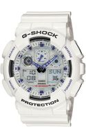 G-shock Mens Analog Digital White Resin Strap Watch - Lyst