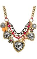 Betsey Johnson Multi Heart Frontal Necklace - Lyst