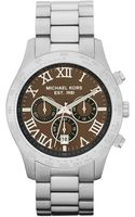 Michael Kors Stainless Steel Chronograph Layton Watch - Lyst