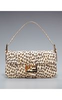 Fendi Leopard-print Snakeskin Baguette - Lyst