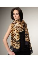 Roberto Cavalli Jaguar-print Chiffon Stole - Lyst
