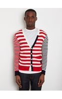 General Idea General Idea Mens Striped Cardigan - Lyst