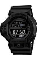 G-shock Mens Digital Blackout Twin Sensor Black Resin Strap 55x52mm Gdf100bb1 - Lyst