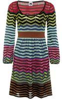 M Missoni Chevron Stripe Dress - Lyst