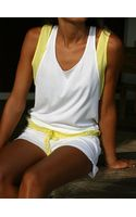 Lounge Lover Petite Pause Tank Top in Whitecitrus - Lyst