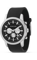Michael Kors Michael Black Stainless Steel Chronograph Watch 38 Mm - Lyst