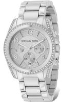 Michael Kors Michael Stainless Steel Chronograph Watch with Clear Stones 39mm - Lyst