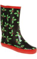 Office Marshmallow Welly Holly Print Rub - Lyst