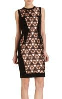 Prabal Gurung Lace Panel Dress - Lyst