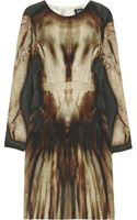 McQ by Alexander McQueen Phantom Printed Silk Dress - Lyst