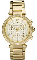 Michael Kors Womens Chronograph Gold Ion Plated Stainless Steel Bracelet 39mm - Lyst