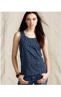 Tommy Hilfiger Sleeveless Printed Cotton Scoop Neck Tank - Lyst