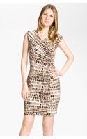 Vince Camuto Tie Dye Spots Dress - Lyst