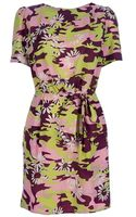 Karen Walker Camo Knot Dress - Lyst