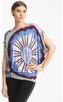 Emilio Pucci Medallion Print Jersey Top - Lyst