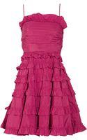 RED Valentino Ruffled Taffeta Dress - Lyst