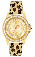 Betsey Johnson Womens Leopard Print Patent Leather Strap Watch  - Lyst