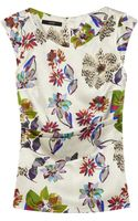 Etro Floralprint Stretch Silkblend Satin Top - Lyst