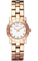Marc By Marc Jacobs Womens Mini Amy Rose Gold Tone Stainless Steel Bracelet Watch  - Lyst