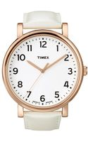 Timex® Womens Originals White Leather Strap 42mm T2n341um Macys Exclusive - Lyst
