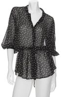 Enza Costa Polka Dot Blouse - Lyst