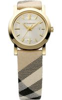 Burberry Timepieces Small Check Strap Watch - Lyst