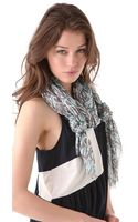 Marc By Marc Jacobs Linear Logo Scarf - Lyst