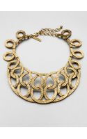 Oscar de la Renta Hammered Loop Collar Necklace - Lyst