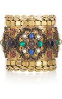 Erickson Beamon Byzantine Goldplated Swarovski Crystal Cuff - Lyst