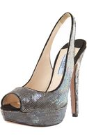 Prada Exclusive Sequin Degrade Platform Pump - Lyst