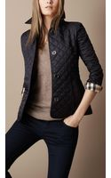 Burberry Brit Cinched Waist Quilted Jacket - Lyst