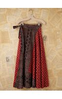 Free People Vintage Batik Printed Wrap Skirt - Lyst