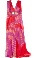 Matthew Williamson Printed Silkchiffon Gown - Lyst