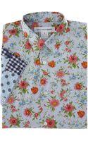 Comme Des Garçons Contrast Sleeve Shirt - Lyst
