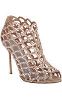 Sergio Rossi Crystal Cutout Shoe Bootie - Lyst