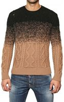 DSquared2 Cable Knit Degrade Wool Sweater - Lyst
