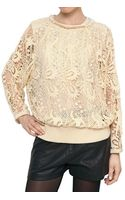 Isabel Marant Guipure Lace Cotton Sweatshirt - Lyst