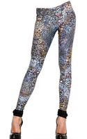 McQ by Alexander McQueen Feather Print Lycra Jersey Leggings - Lyst