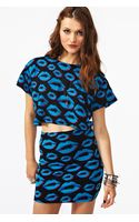 Nasty Gal Kiss Me Crop Tee - Lyst