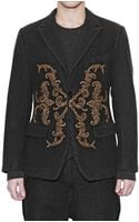 Dolce & Gabbana Shetland Chevron Embroidered Jacket - Lyst