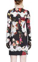 Dolce & Gabbana Cotton Lace Stretch Viscose Cady Dress - Lyst