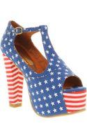 Jeffrey Campbell Foxy Heel Platform Sandals - Lyst