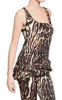 Roberto Cavalli Printed Silk Chiffon Top - Lyst