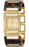 Michael Kors Tortoise Bracelet Golden Watch - Lyst