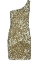 P.a.r.o.s.h. One Shoulder Sequin Dress - Lyst