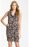 Michael by Michael Kors Sleeveless Cowl Neck Dress - Lyst