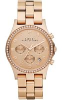 Marc By Marc Jacobs Womens Chronograph Henry Rose Gold Ion Plated Stainless Steel Bracelet 40mm - Lyst