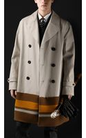 Burberry Prorsum Oversize College Stripe Trench Coat - Lyst